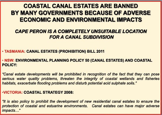 Canal estates banned
